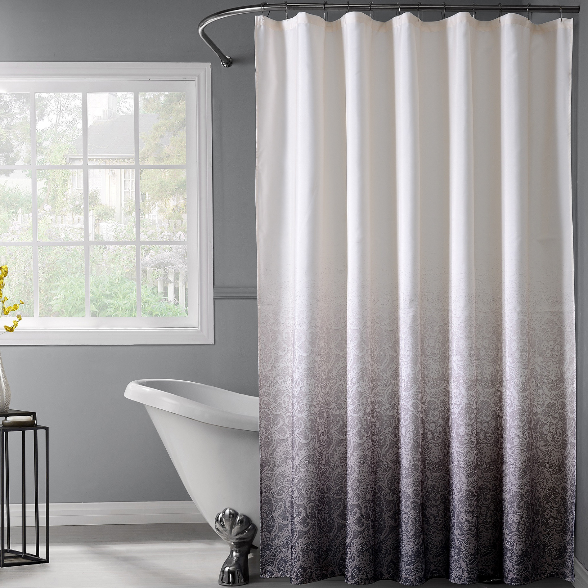 Unusual Shower Curtains All Also Lace Ombre Curtain Elegant